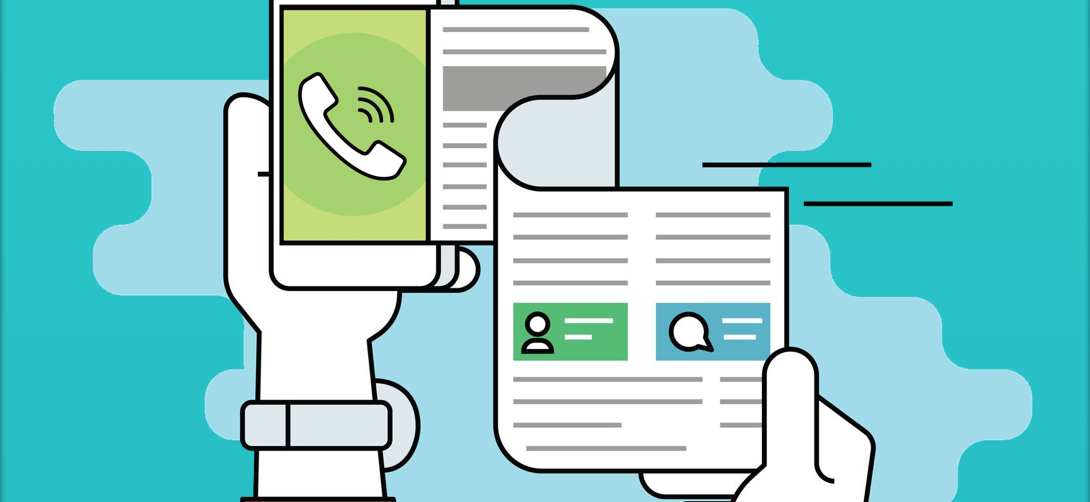 conversão de voz em texto com call tracking